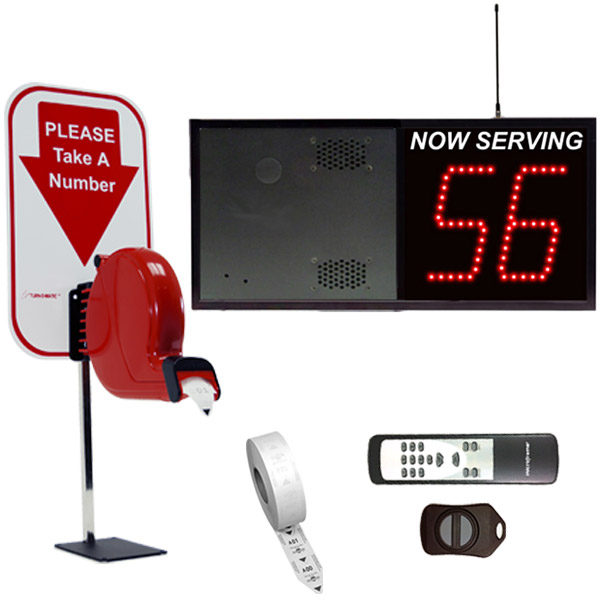 2-Digit Wireless VoiceBox Take A Number System Counter Dispenser