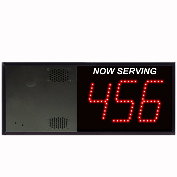 Model 5130 (3-Digit) Take-A-Number Display with VoiceBox
