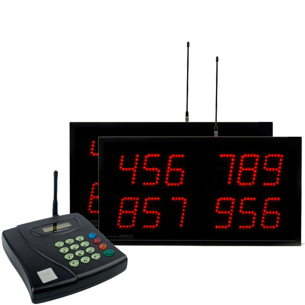 Multi-Number (4 by 3-Digit) MultiPage 2-Display Visual-Pager® System