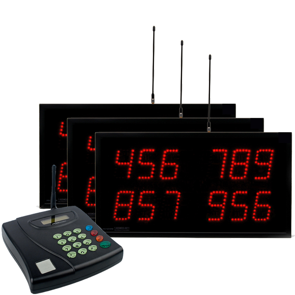 Multi-Number (4 by 3-Digit) MultiPage Triple Display Visual-Pager® System