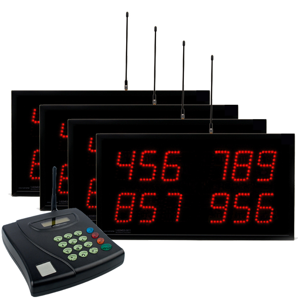 Multi-Number (4 by 3-Digit) MultiPage Four-Display Visual-Pager® System