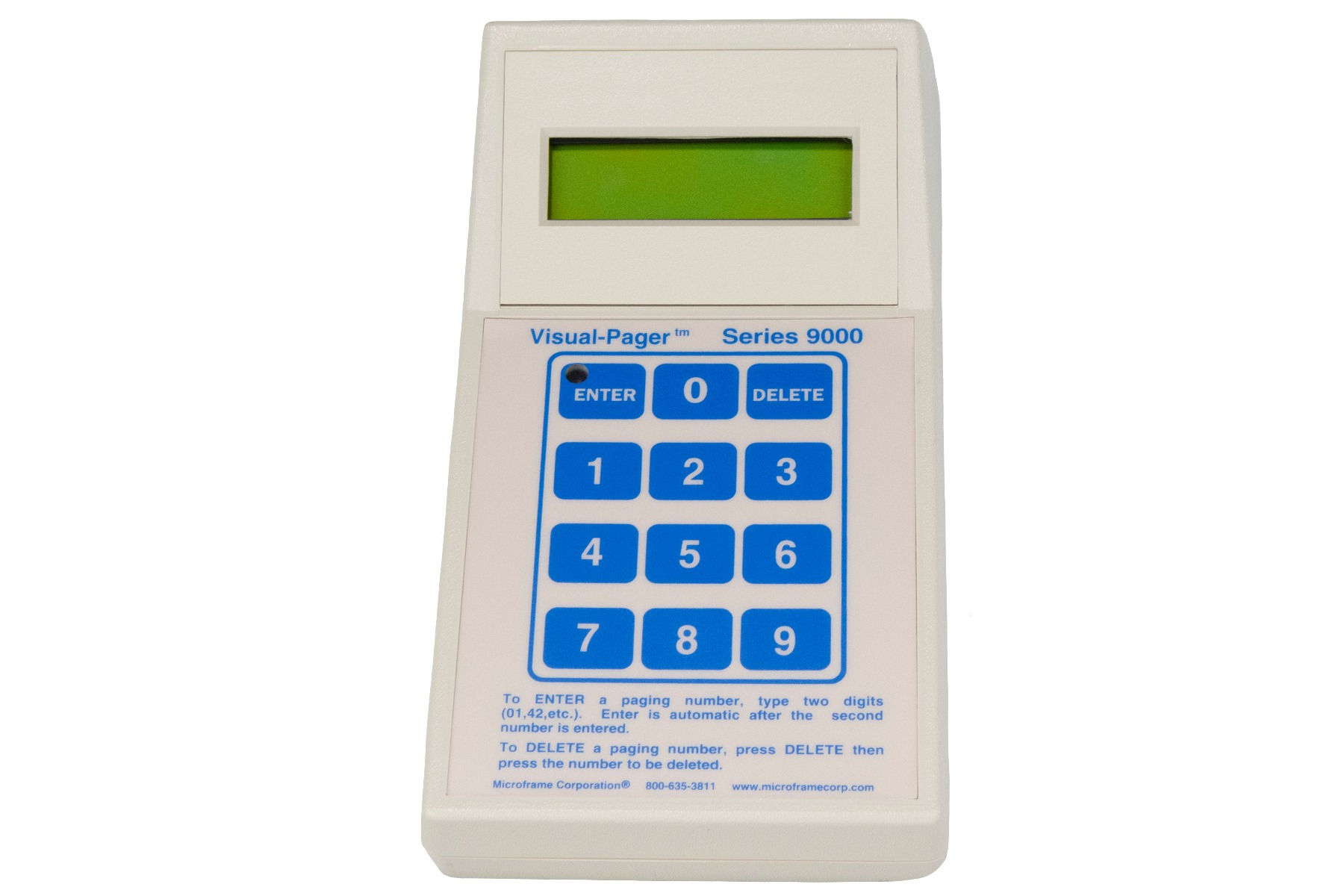 9010 Multi-Number Visual-Pager® Keypad