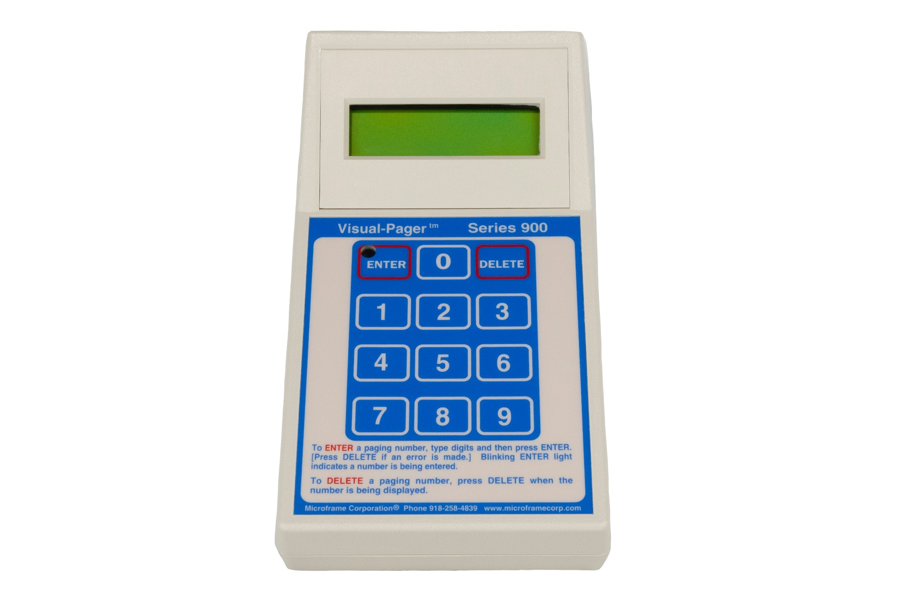 Model 910 Visual-Pager® Keypad