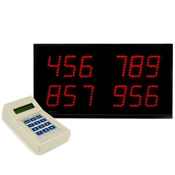 Multi-Number (4 by 3-Digit) Display Visual-Pager® System