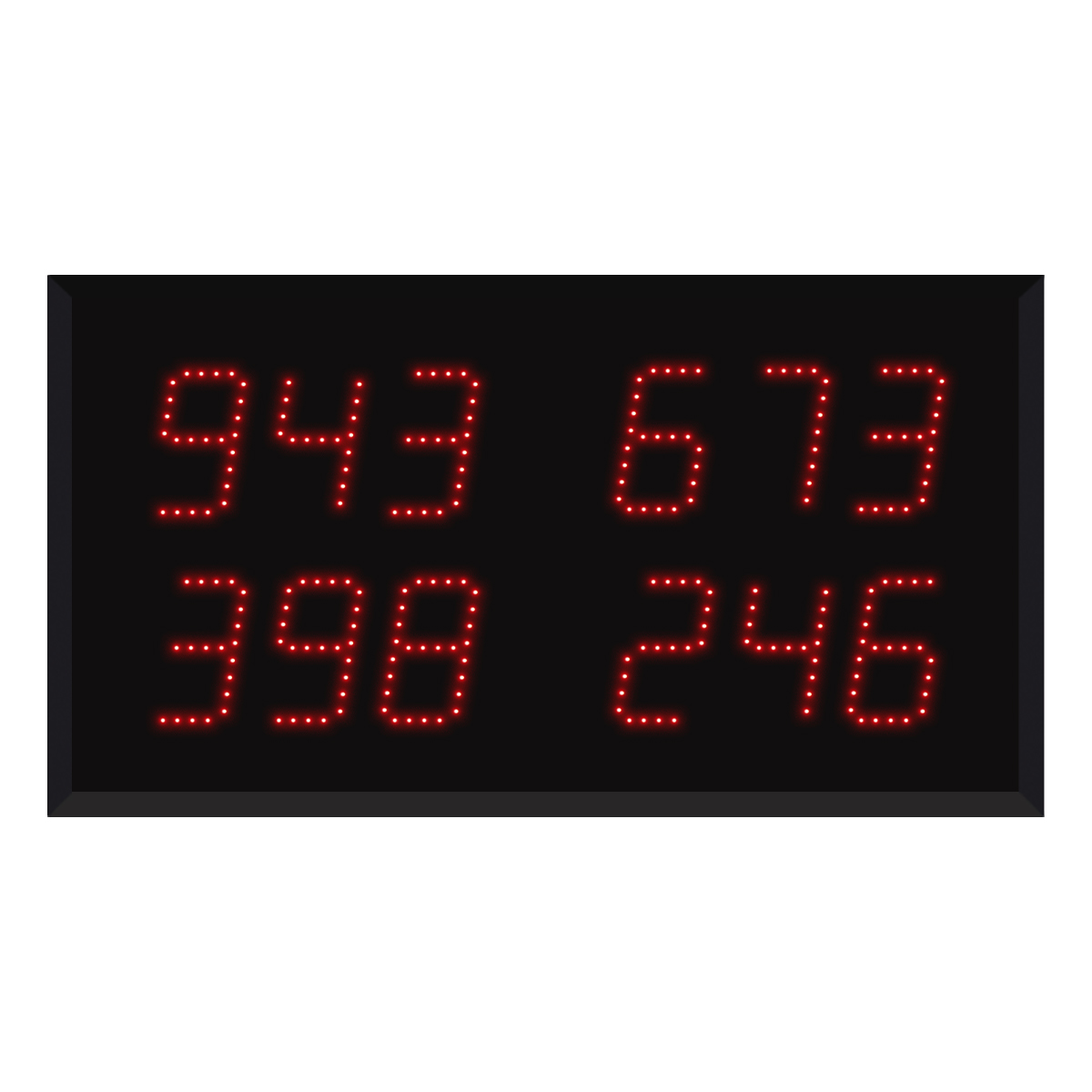 Model 9430 (4 by 3-Digit) Multi-Number Visual-Pager® Display