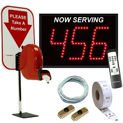 3-Digit Take-A-Number System with Counter Top Ticket Dispenser
