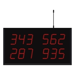 Model 3430 (4 by 3-Digit) Wireless Multi-Number Visual-Pager® Display