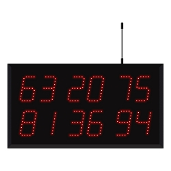 Model 3620 (6 by 2-Digit) Wireless Multi-Number Visual-Pager® Display