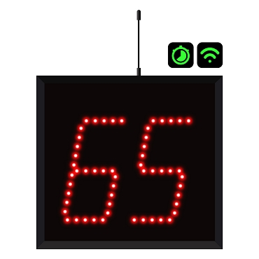 2-Digit Wi-Fi Countdown Timer Display