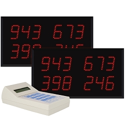 Multi-Number (4 by 3-Digit)  Dual Display Visual-Pager® System