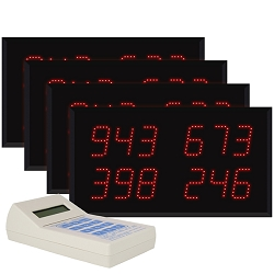 Multi-Number (4 by 3-Digit) Four-Display Visual-Pager® System
