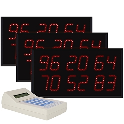 Multi-Number (6 by 2-Digit) Triple Display Visual-Pager® System