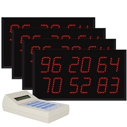 Multi-Number (2 by 6-Digit) Four-Display Visual-Pager® System