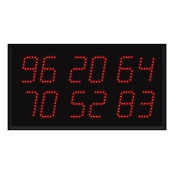 Model 9620 (6 by 2-Digit) Multi-Number Visual-Pager® Display