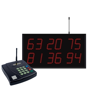 Multi-Number (6 by 2-Digit) Display Visual-Pager® System