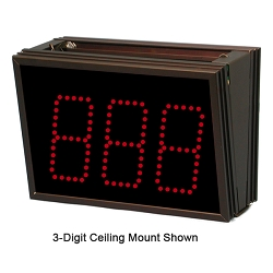 2-Digit Single-Display Ceiling Mount
