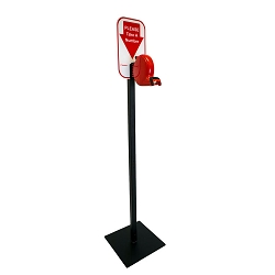Microframe B80 Turn-O-Matic Take A Number Ticket Dispenser Floor Stand Kit - Free Ticket Roll
