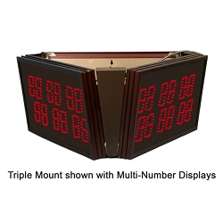 2-Digit Triple-Display Ceiling Mount