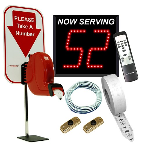 2-Digit Take-A-Number System with Counter Top Ticket Dispenser