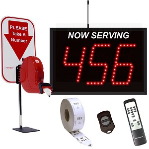 3-Digit Wireless Take-A-Number System with Counter Ticket Dispenser