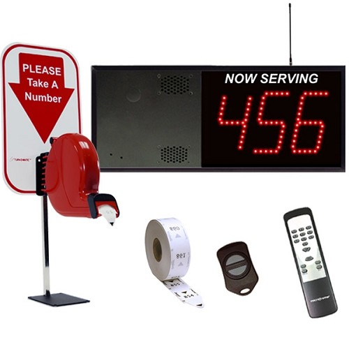 3-Digit Wireless Take A Number VoiceBox System Counter Dispenser