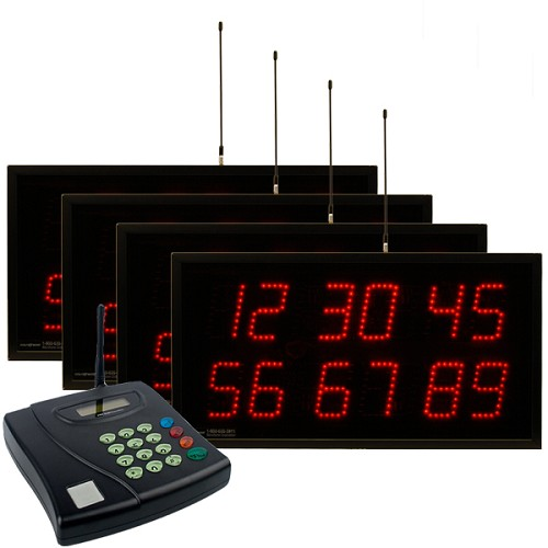 Multi-Number (6 by 2-Digit) Four-Display Visual-Pager® System