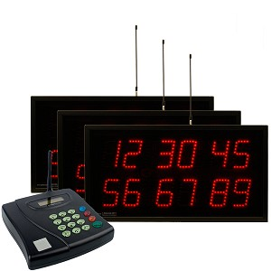 Multi-Number (6 by 2-Digit) Triple-Display Visual-Pager® System