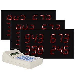 Multi-Number (4 by 3-Digit) Triple Display Visual-Pager® System