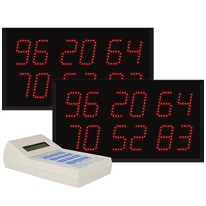 Multi-Number (6 by 2-Digit) Dual Display  Visual-Pager® System