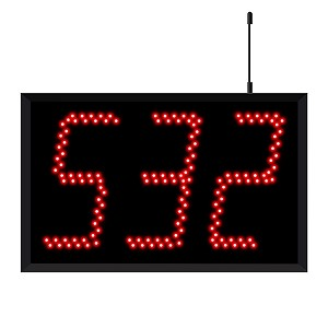 Jumbo 5130 (3-Digit) Wireless Take-A-Number Display
