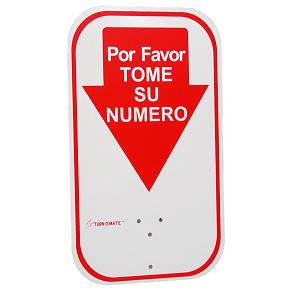 Spanish Take-A-Number Sign